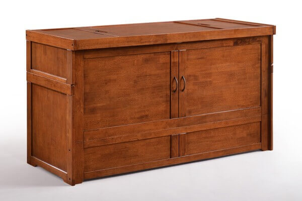 Cube Cabinet Bed in Cherry