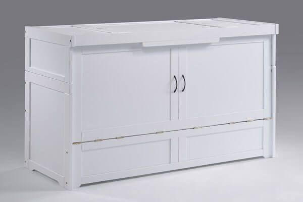 Cube Cabinet Bed in White