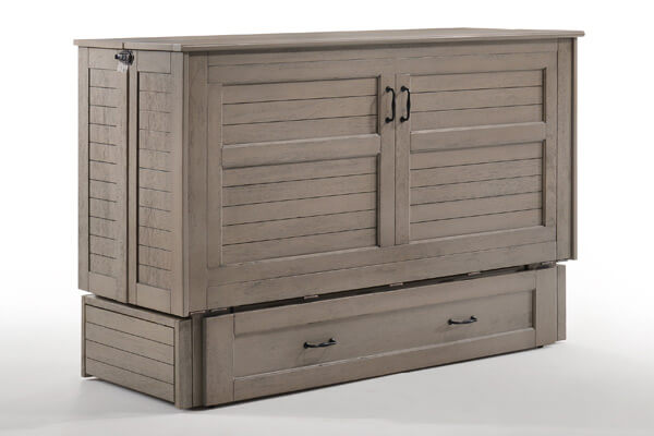 Poppy Murphy Cabinet Bed in Brushed Driftwood
