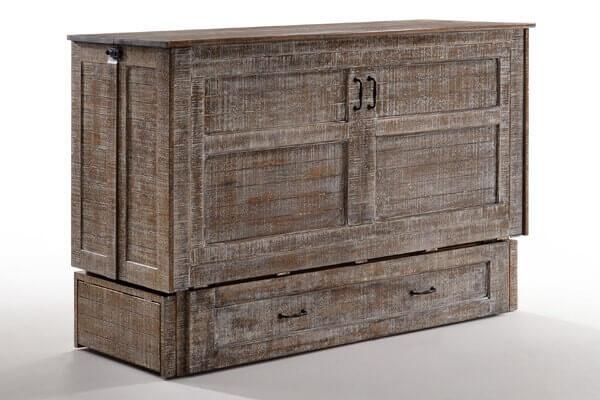 Poppy Cabinet Bed in White Bark