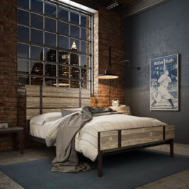 Amisco Dover Metal Bed Frame