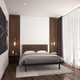 Amisco Euphemia metal bed frame