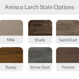 Amisco Larch Stain Options
