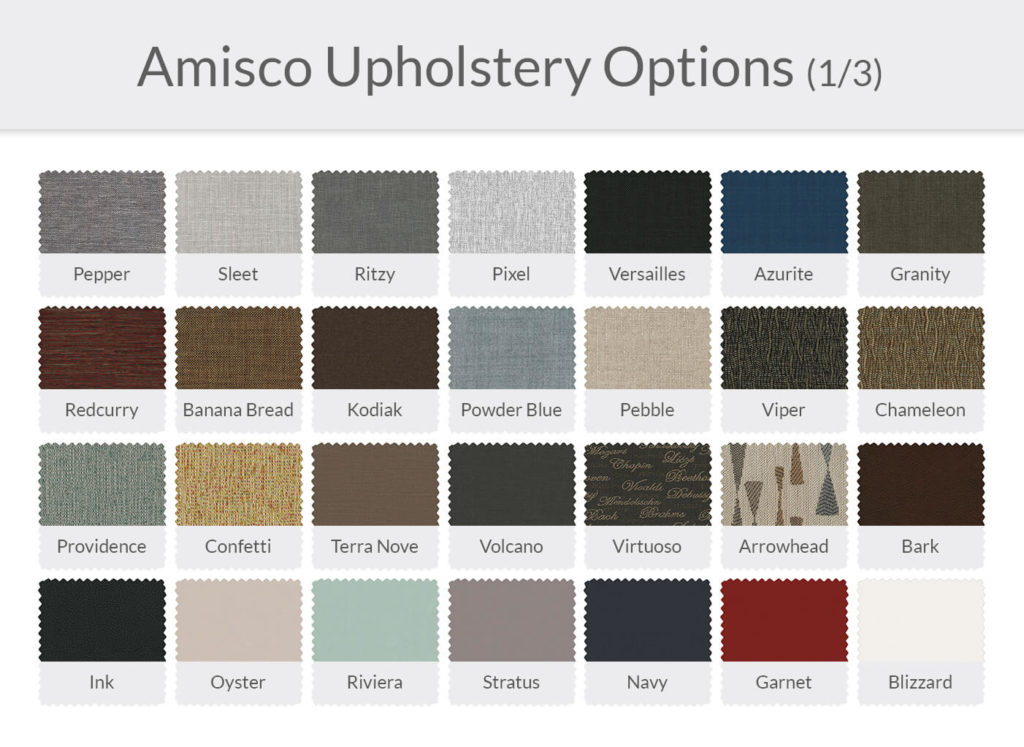 Amisco Upholstery Options 1/3