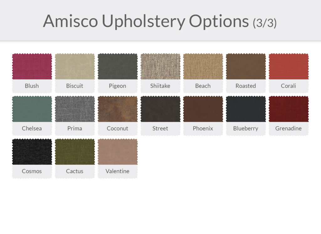 Amisco Upholstery Options 3/3
