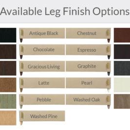 Available Leg Finish Options
