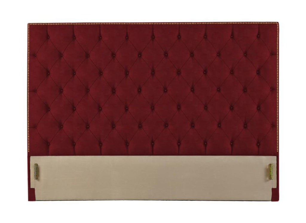 Hamilton Headboard in Burgundy 453-VC105-32 with Gold Nails