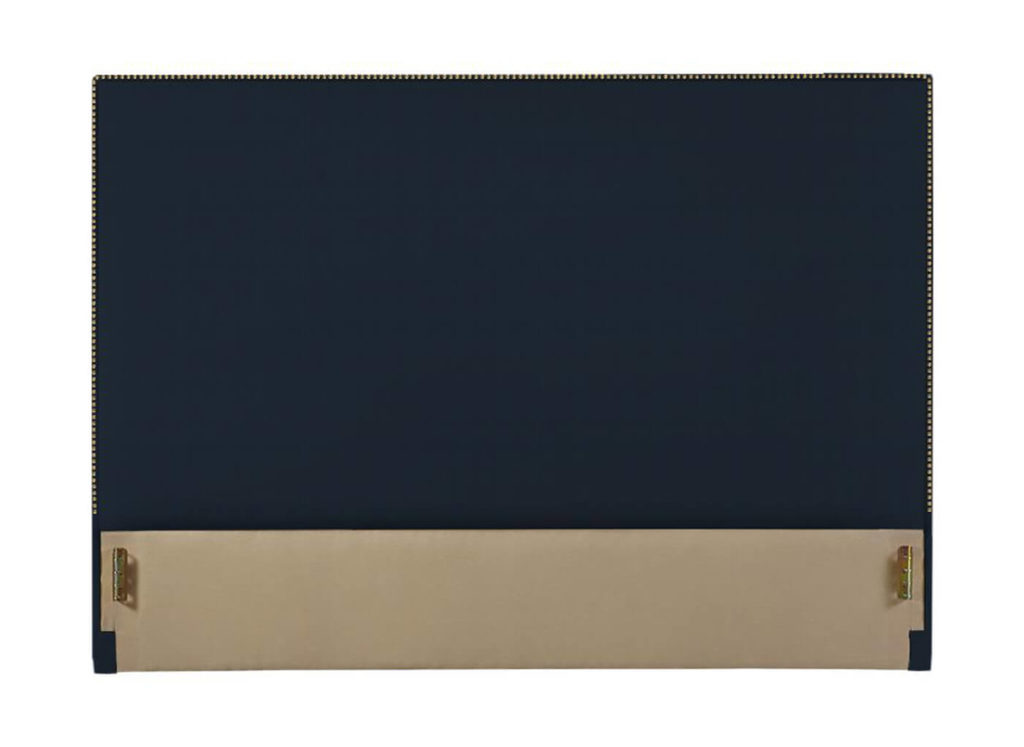 Irving Park Headboard in Navy 14435-56 with Gold Nail Trim