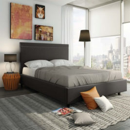 Gastown Bed Upholstered Frame in Lifestyle Setting