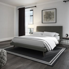 Hailey Bed with Upholstered in Lifestyle Setting