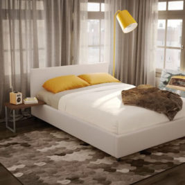 Muro Bed with Light Upholstery