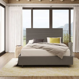 Prana Bed with Dark Grey Upholstery