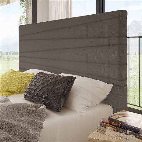 Prana Bed Dark Grey Headboard Detail