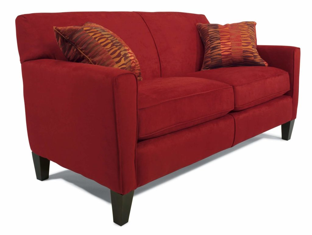 Digby 2-Seater in Red Fabric