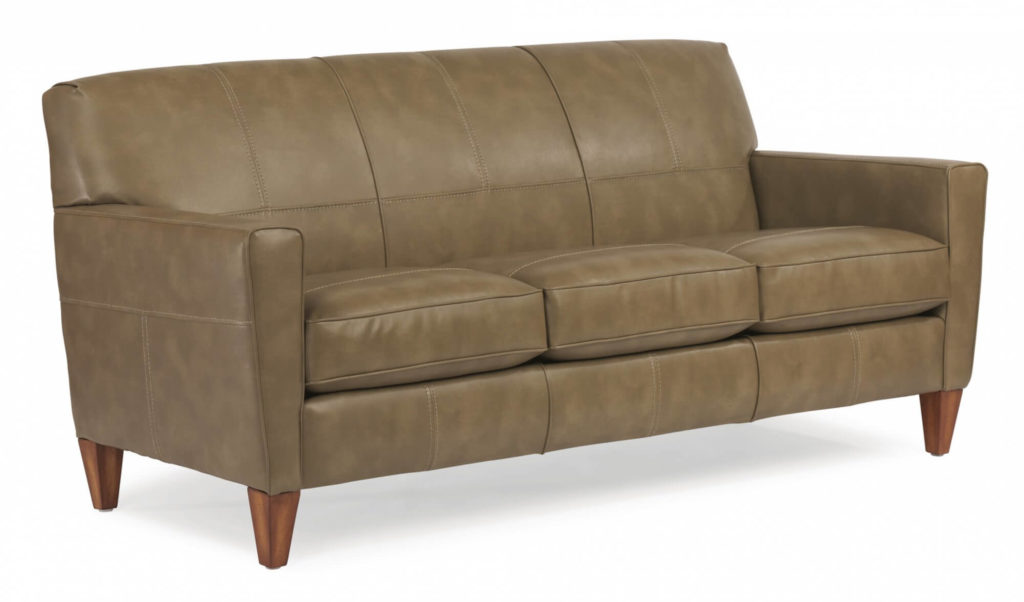 Digby 3-Seater with Colored Leather