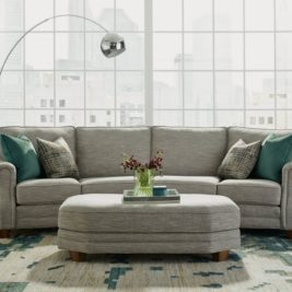 Gretchen Sectional with Fabric Cocktail Ottoman