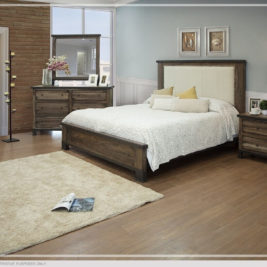 Durango Upholstered Bed in Lifestyle Setting