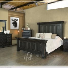 Terra Black Bed by IFD in Lifestyle Setting