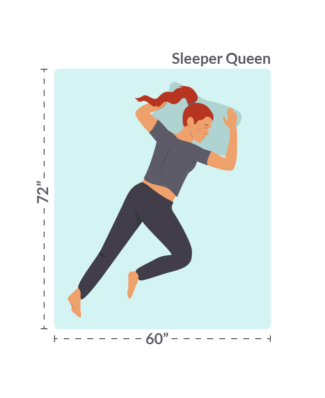 Sleeper Queen Size Mattress with Dimensions Included