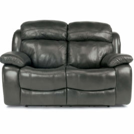 Como Leather Loveseat Front View