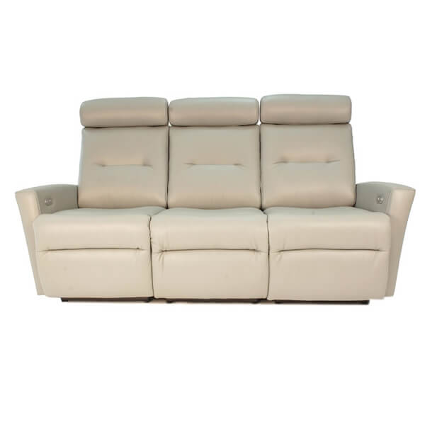 Madrid Sofa Recliner in Tan by Fjord