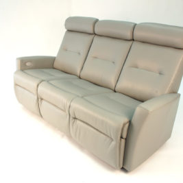 Madrid Sofa Recliner in Tan