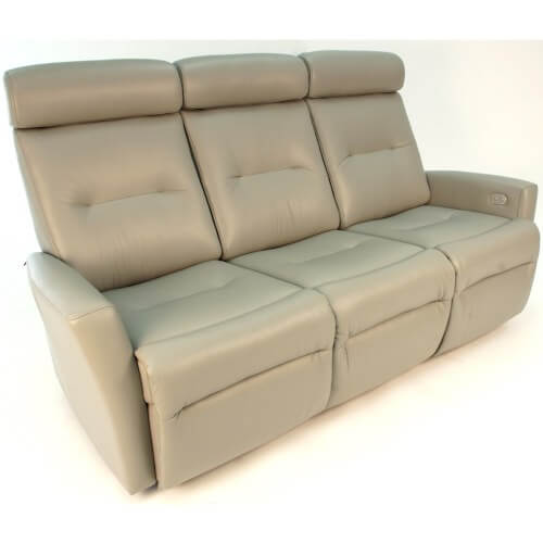 Madrid 3-Seat Couch Recliner in Tan
