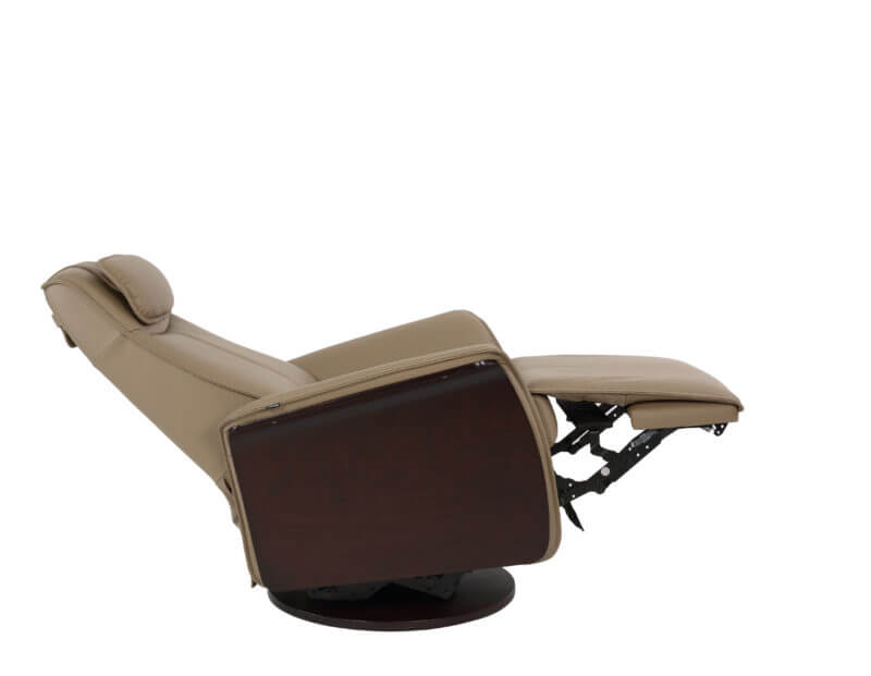 Metro Recliner in Nougat Reclined Back