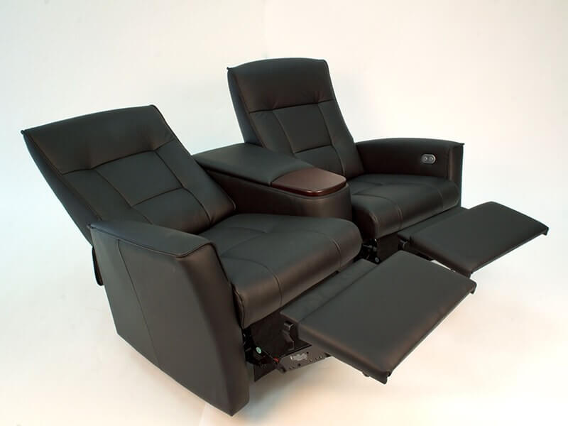Ulstein Cinema Chairs Both Reclined in Black
