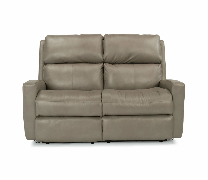 Catalina Leather Loveseat Front View