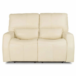 Cooper Leather Loveseat Front View