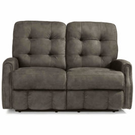 Devon Fabric Loveseat Front View
