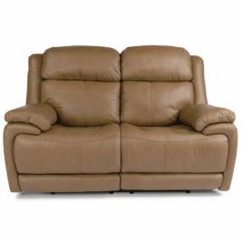Elijah Leather Loveseat Front View