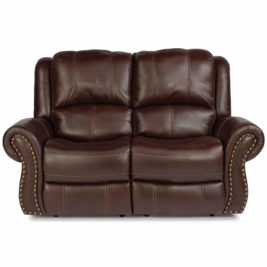 Patton Leather Loveseat Front View