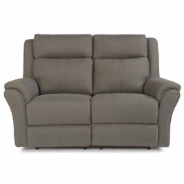 Pike Fabric Loveseat Front View