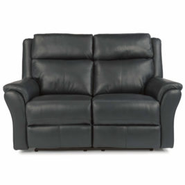 Pike Leather Loveseat Front View