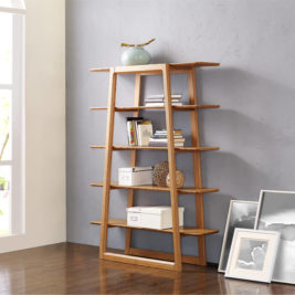 Currant Bookshelf Caramelized in Lifestyle Setting
