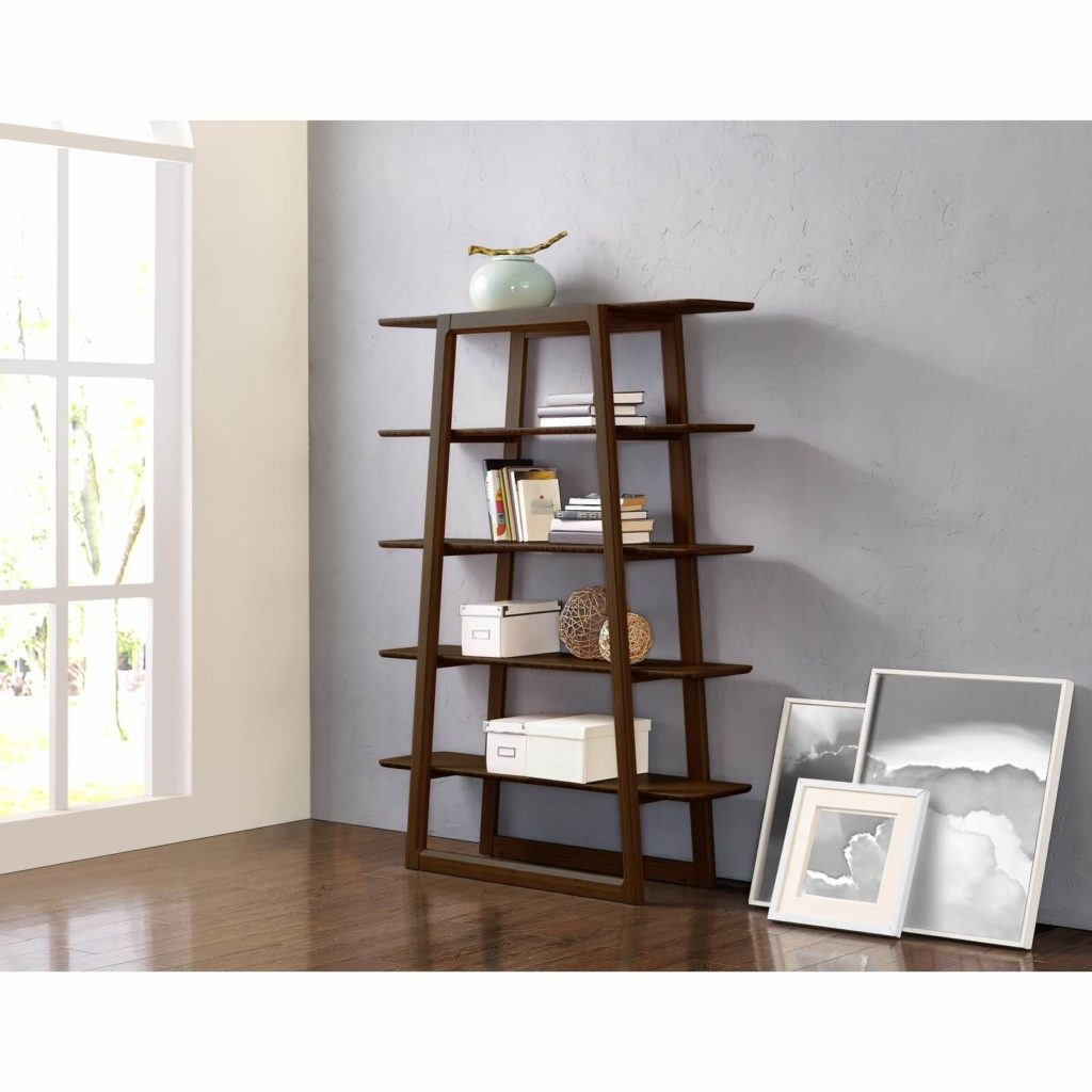 Currant Bookshelf Dark Walnut in Lifestyle Setting