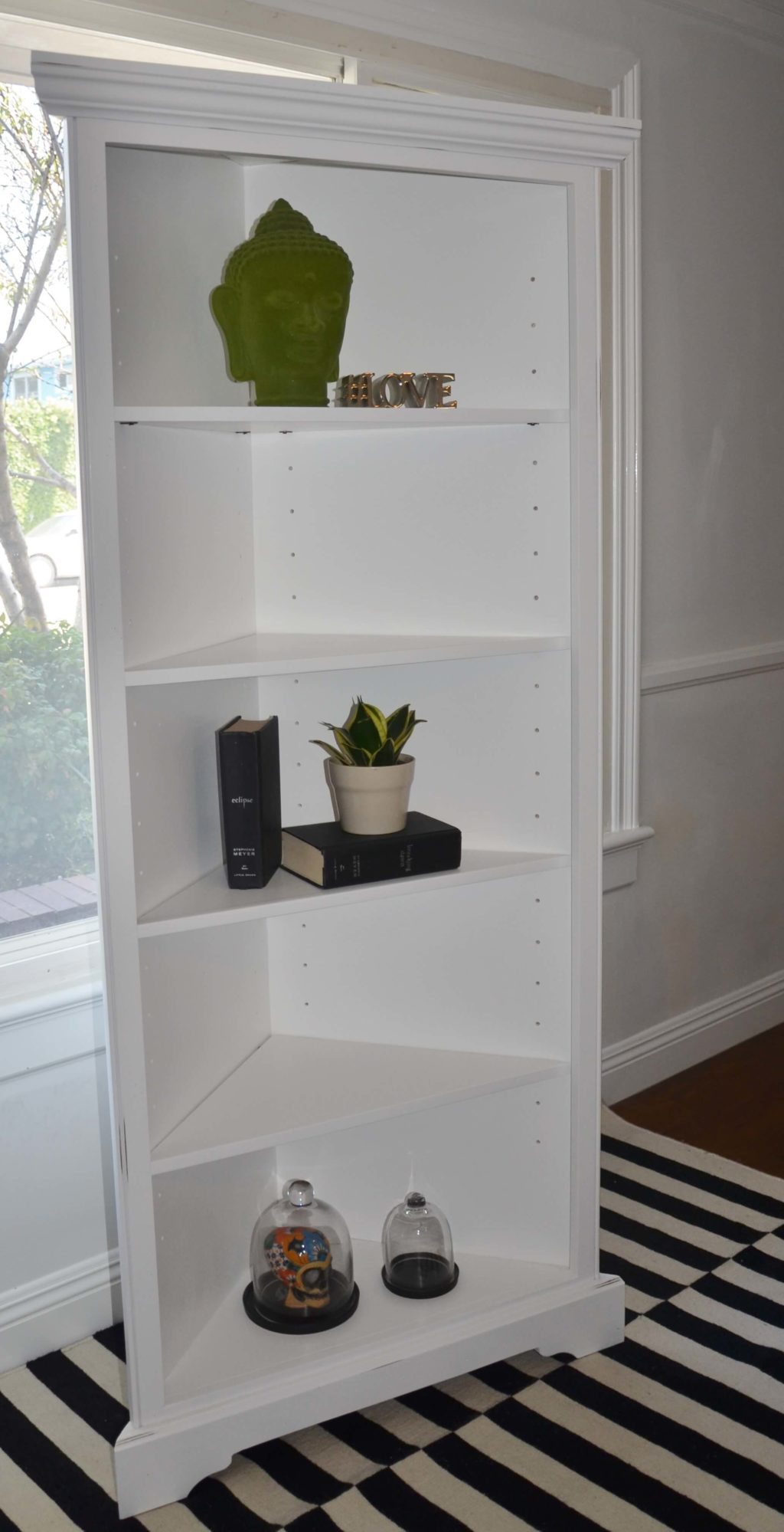 Barcelona Corner Bookshelf with Four Shelves