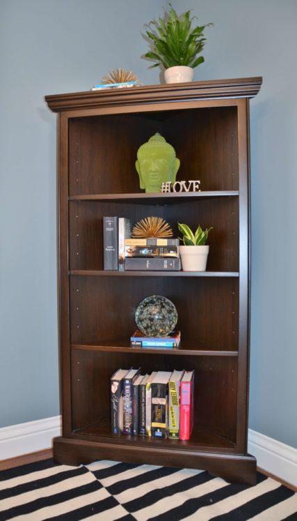 Barcelona Corner Bookshelf Triple Shelf