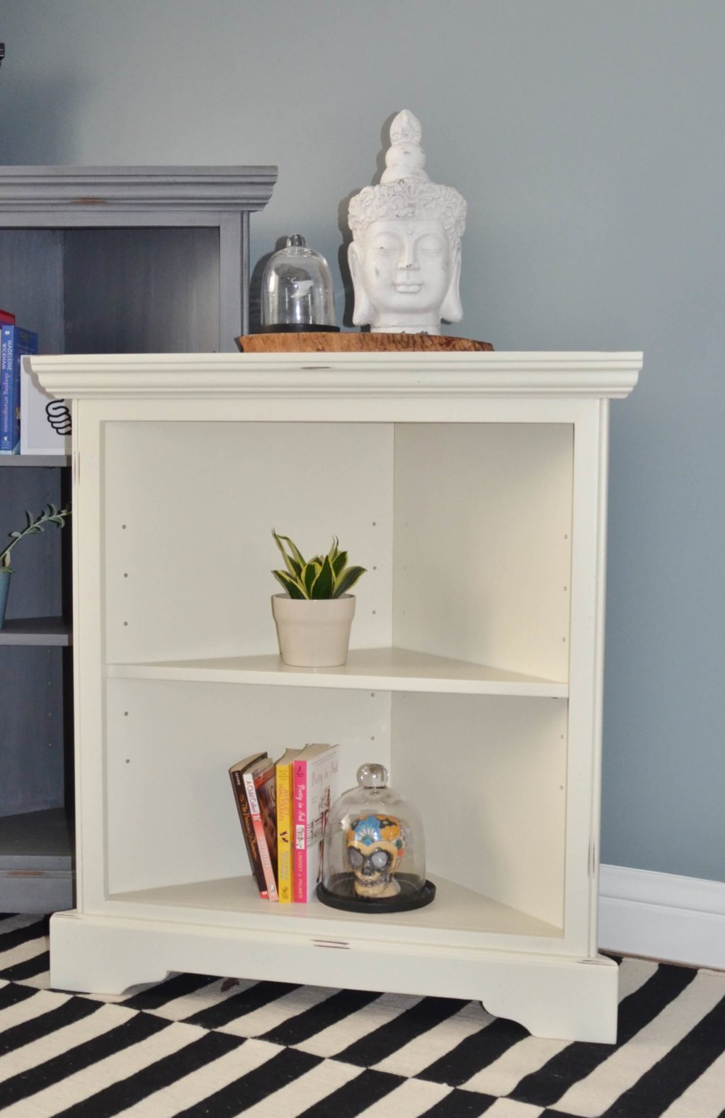 Barcelona Corner Bookshelf Single Shelf
