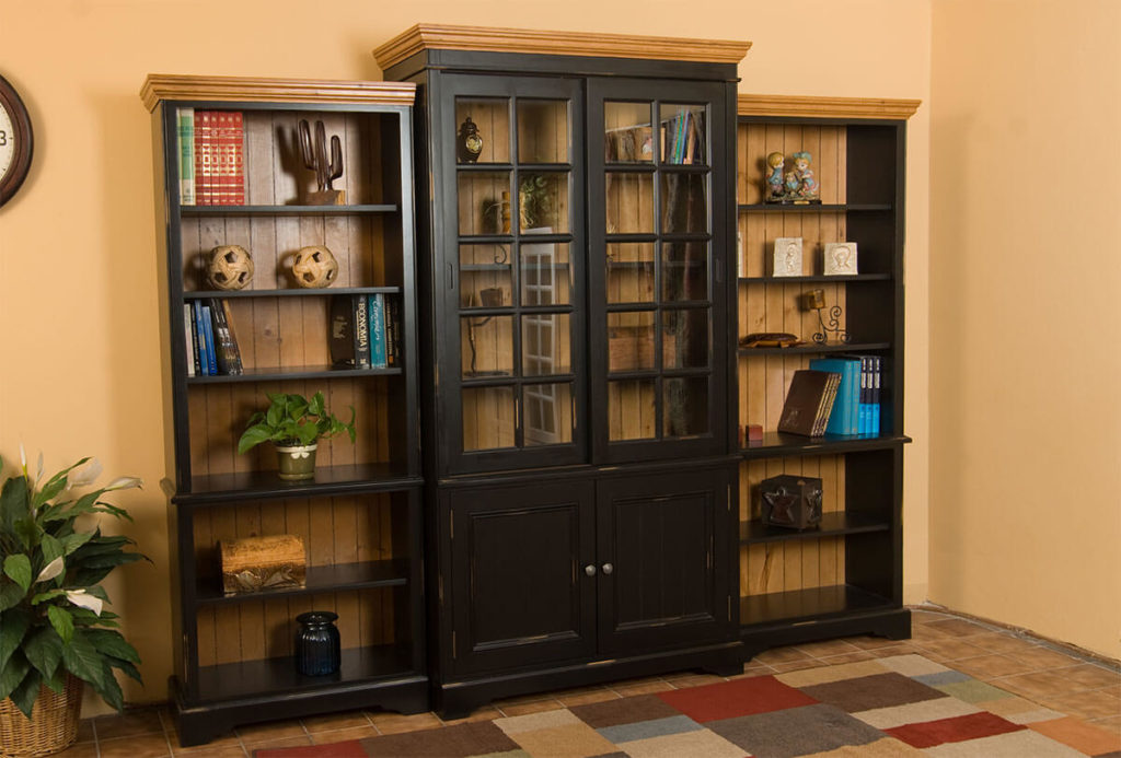 Barcelona Bookcase with Glass Doors