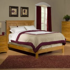 Alder Shaker Panel Bed by Archbold