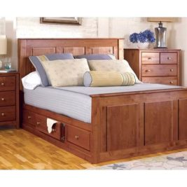 Alder Shaker Storage Bed Low by Archbold
