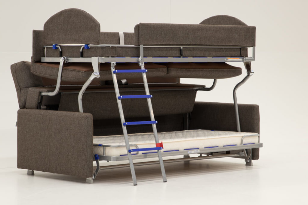 Elevate Bunk Bed Sleeper Sofa with Ladder