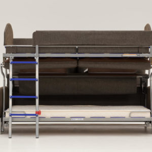 Elevate Bunk Bed Sleeper Sofa Opened