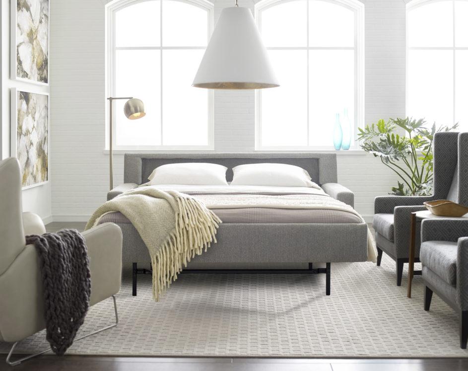 Bryson Large Sleeper Sofa Open Lifestyle