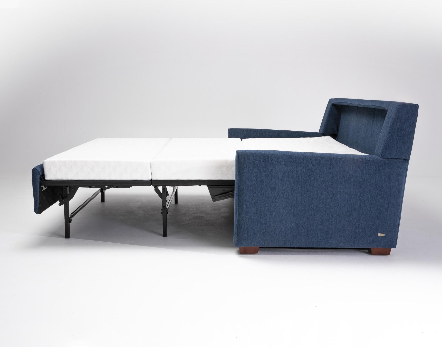 Klein Modern Sleeper Sofa Open Side View