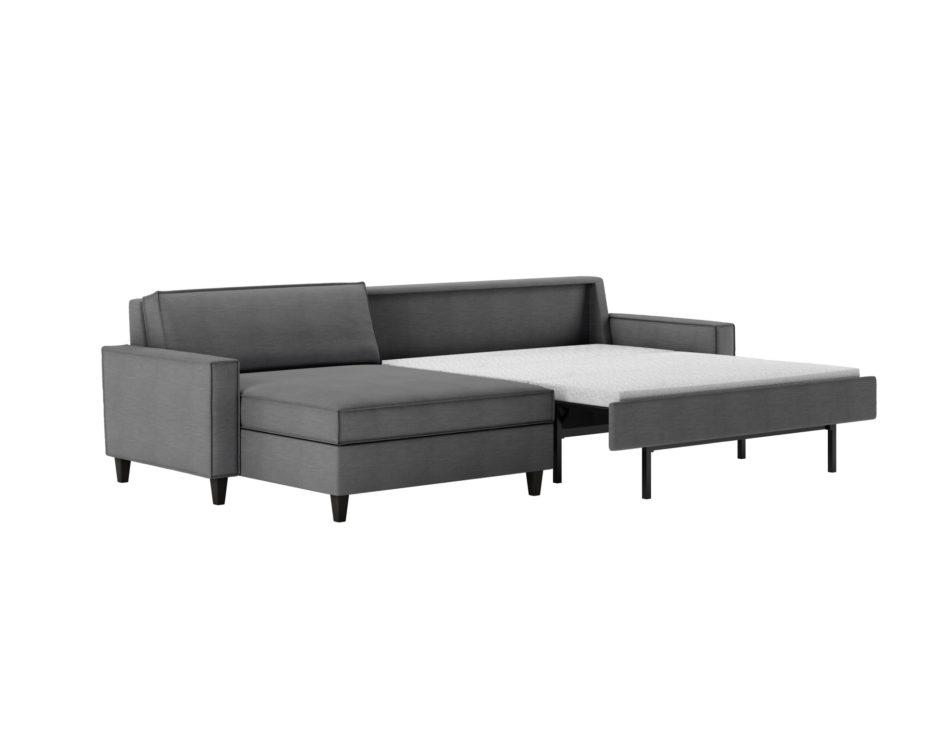 Mitchell Contemporary Sleeper Sofa Open