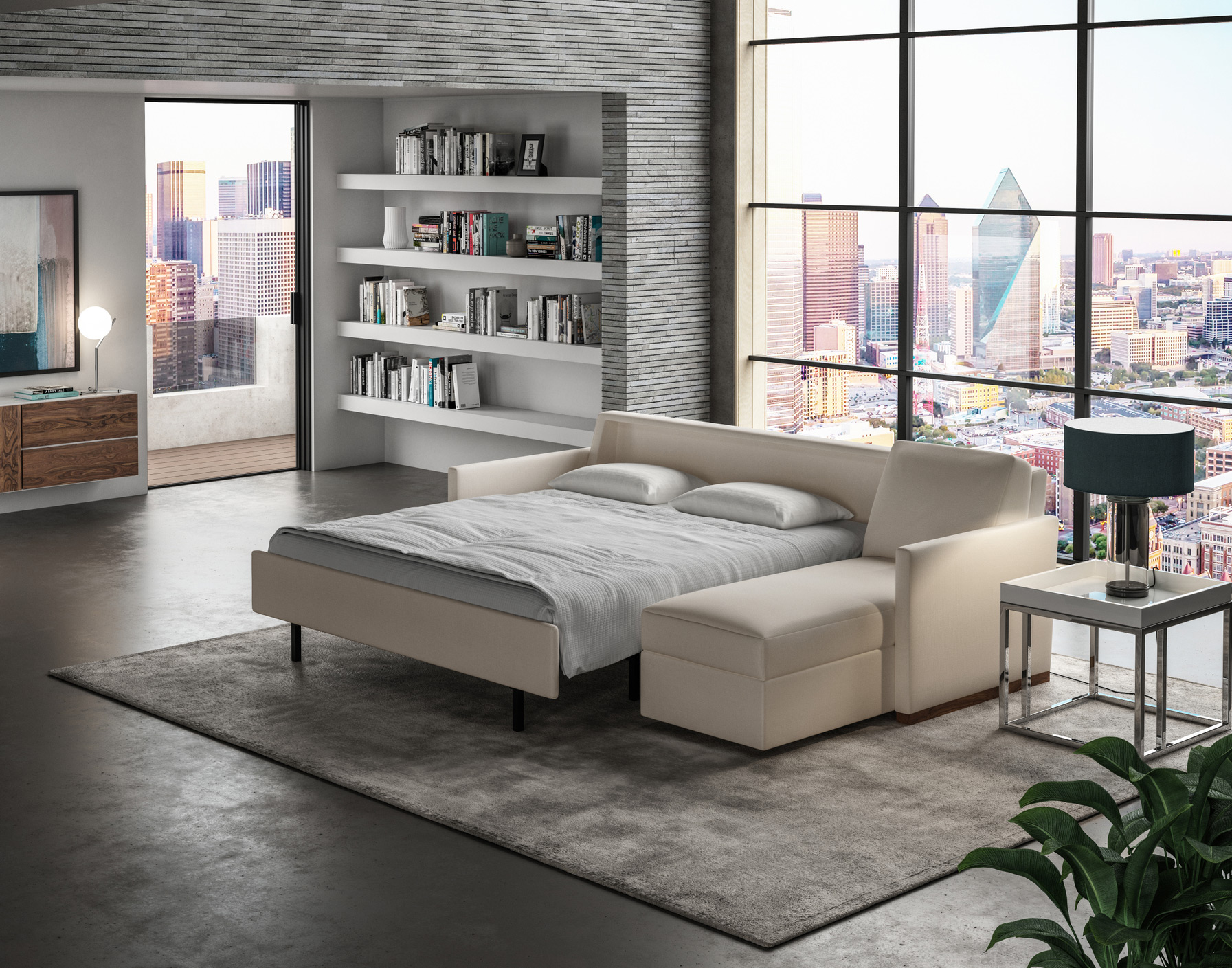 Pearson Comfort Sleeper Sectional Lifestyle